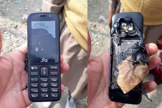 Jio Phone explodes in Kashmir