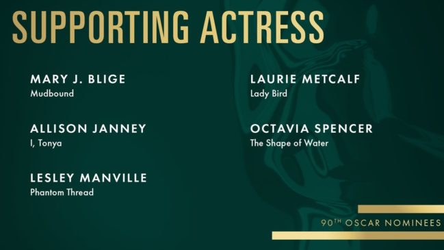 best supporting female actor 2018