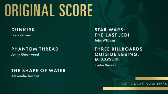 Oscar Nominations 2019