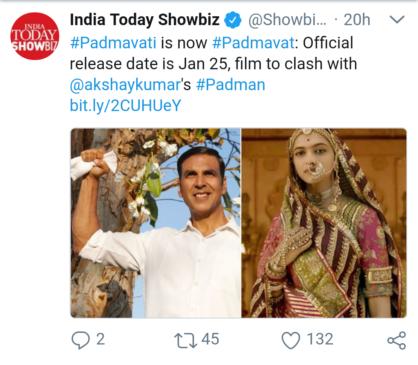 Padmvati movie tweets